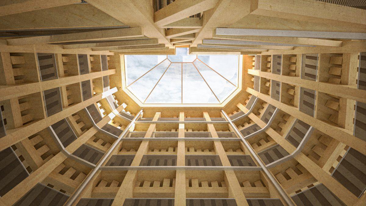 Modular timber parking garage system